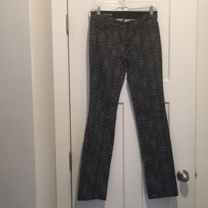 Modern Fit Denim ,Size-2, Black/White